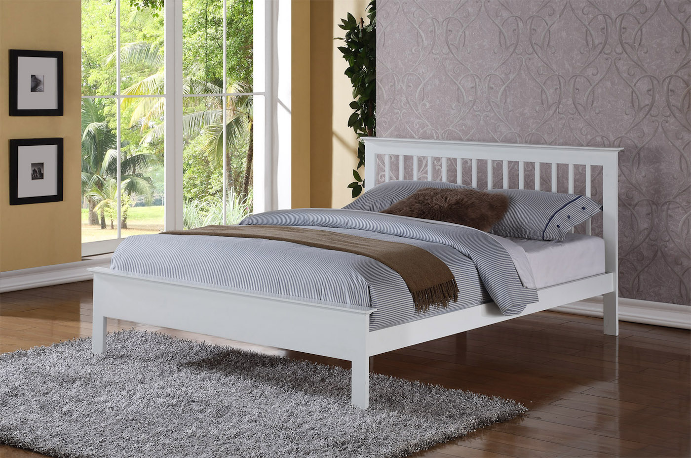 Flintshire Pentre bed White Finish