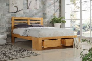 Flintshire Furniture New Bretton Bed Oak